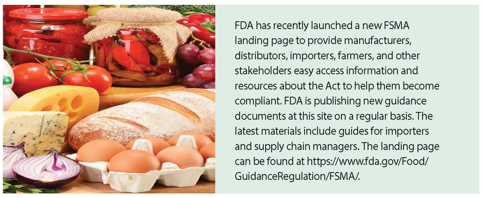 The Food Safety Modernization Act, After One Year: Advancing